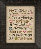 Lizzie Kate My To Do List Counted cross stitch pattern