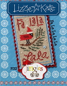 Lizzie Kate Jingles Flip-It Fa La La La La cross stitch pattern with embellishments
