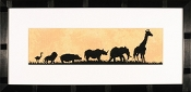 Lanarte Parade of Wild Animals counted cross stitch kit