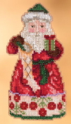 Jim Shore by Mill Hill - Christmas Spirit Santa JS20-3105 Christmas Ornament beaded counted cross stitch kit