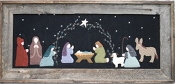 Under the Garden Moon - O Holy Night - Christmas Nativity hand Emboidery applique pattern