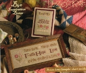Lizzie Kate Boxer - Faith Hope Love counted cross stitch pattern kit