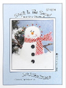 Susie C Shore Designs - Stuck In The Snow - Snowman Pincushion Decoration Embroidery Sewing patterns
