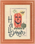 Lizzie Kate Flip-It Halloween F17 counted cross stitch pattern with embellishment