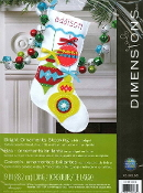 Dimensions felt applique Bright Ornaments Christmas stocking kit - embroidery