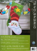Dimensions felt applique Santa Christmas stocking kit - embroidery