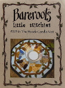Bareroots Little Stitchies In The Woods Candle Mat Felt applique embroidery pattern, Owls