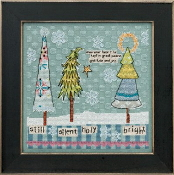 Mill Hill Curly Girl Design - Still, Silent, Holy, Bright Christmas counted cross stitch kit