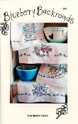 Blueberry Backroads - The Berry Patch - Hand embroidery patterns for kitchen towels