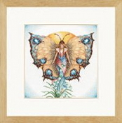 Lanarte, Maria Van Scharrenburg Fairy counted cross stitch kit - Day - large design