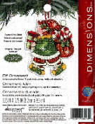 Dimensions Christmas Counted cross stitch kit - Elf Ornament, Susan Winget