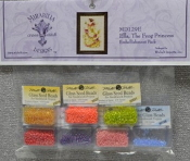 Mirabilia Designs Ella The Frog Princess MD129E embellishment pack, Mill Hill Beads