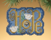 Mill Hill Winter Greetings Hope MH16-9302 Charmed Christmas Ornament counted cross stitch kit
