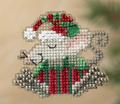 Mill Hill Winter Holiday Kris Mouse MH18-1306 Christmas Ornament counted cross stitch kit with treasure