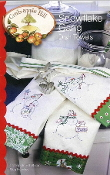 Snowflake Gang dish towels Christmas embroidery patterns - Crabapple Hill Studio