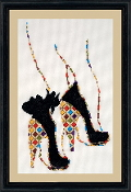 Design Works Crafts Quilted Heels counted cross stitch picture kit