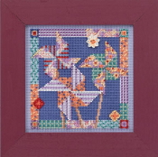 Mill Hill Spring Series - Pinwheels - beaded counted cross stitch kit