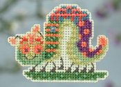Mill Hill Spring Collection - Caterpillar - beaded counted cross stitch ornament kit