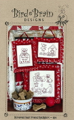 Bird Brain Designs Bonefied Best Friend Redwork Dogs hand embroidery patterns
