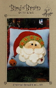 Bird Brain Designs Christmas Santa Pillow Pattern - embroidery, applique