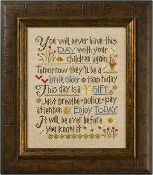 Lizzie Kate Let Them Be Small Counted cross stitch pattern chart