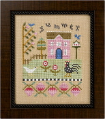 Lizzie Kate Flip-It, Summer - Counted cross stitch pattern, chart, buttons