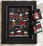 The Prairie Schooler Happy Christmas counted cross stitch charts patterns