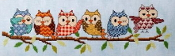Glendon Place Outrageous Owls counted cross stitch pattern chart