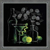 Riolis - Still Life with Martini counted cross stitch picture kit