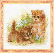 Riolis - Child's Play - Cats Kittens counted cross stitch picture kit
