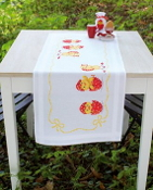 Vervaco - Happy Easter Table Runner stamped for cross stitch kit with threads