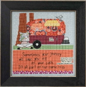 Mill Hill Curly Girl Design - Off Your Path inspirational beaded counted cross stitch kit