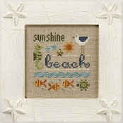 Lizzie Kate - a little beach counted cross stitch kit