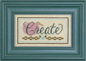 Lizzie Kate Double Flip, Create Live - Counted cross stitch pattern, chart, charms