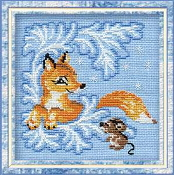 Riolis - Fox Cub - counted cross stitch picture kit
