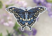 Mill Hill Spring Bouquet collection Black Swallowtail Butterfly counted cross stitch ornament kit