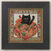 Mill Hill Autumn Series Peek-a-Boo Pumpkin - beaded counted cross stitch kit