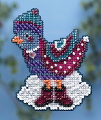 Mill Hill Winter Holiday collection Winter Bird MH18-4303 Christmas Ornament counted cross stitch kit with treasure