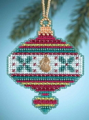 Mill Hill Christmas Jewels Holly Ornament Beaded Counted cross stitch kit