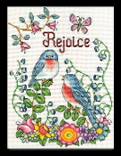 Design Works Rejoice Birds beaded counted cross stitch picture kit