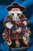 Mill Hill - Feliz Navidad Santa MH20-4303 Christmas Ornament beaded counted cross stitch kit