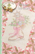 Crabapple Hill Studio Vintage Ice Skate Christmas hand embroidery pattern