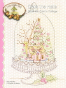 Crabapple Hill Studio Deck the Halls Cloche Cottage Christmas hand embroidery pattern