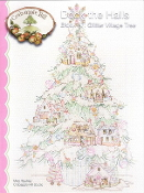 Crabapple Hill Studio Deck the Halls Glitter Village Tree Christmas hand embroidery pattern