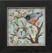 Mill Hill Spring Series Spring Robin beaded counted cross stitch kit