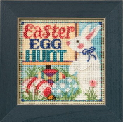 Mill Hill Spring Series Egg Hunt Easter beaded counted cross stitch kit