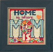 Mill Hill Spring Series Mom beaded counted cross stitch kit