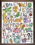 Design Works Crafts ABC Animals Sampler counted cross stitch picture kit
