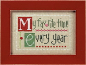 Lizzie Kate Double Flip, MERR - Christmas Counted cross stitch pattern, chart, buttons