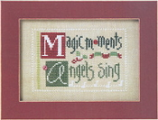 Lizzie Kate Double Flip, MAS - Christmas Counted cross stitch pattern, chart, buttons